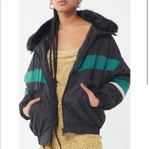 Color block winter coat